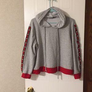 Cropped Secret rain hoodie.